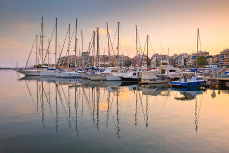 zea: Yachts and motor boats in Zea Marina in Athens, Greece Editorial