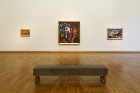 museums: Exhibition space in Leopold museum in Vienna.