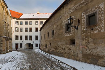historic buildings: Historic buildings in the old town of Bratislava, Slovakia.