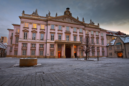 primates: Square and Primates Palace in the old town of Bratislava, Slovakia.