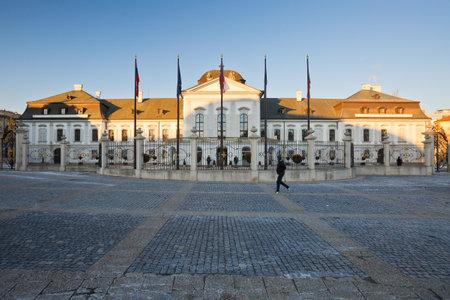 presidential: Presidential palace in Bratislava, Slovakia.