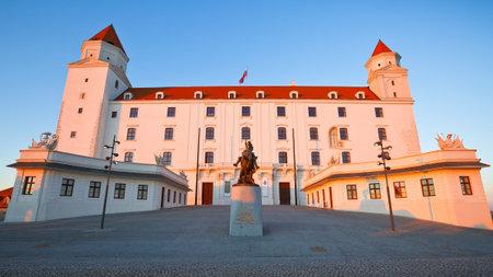 winter evening: Bratislava castle on a winter evening, Slovakia. Editorial