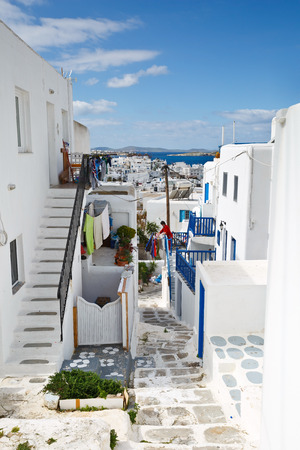 mykonos: Traditional architecture in the town of Mykonos, Greece.
