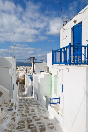 cycladic: Traditional architecture in the town of Mykonos, Greece.