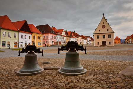 unesco: City hall in the main square of UNESCO listed medieval town of Bardejov in eastern Slovakia. Editorial
