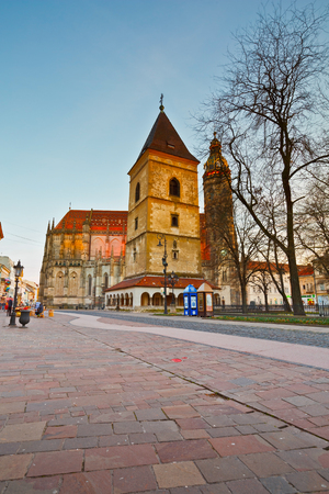 elisabeth: Urbans Tower and St. Elisabeth cathedral in the main square of Kosice city in eastern Slovakia.