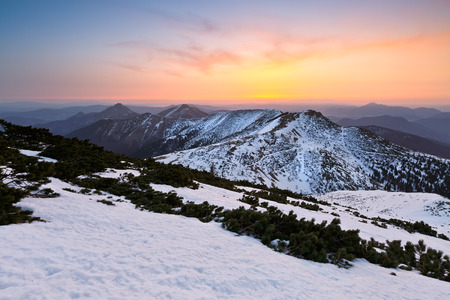 mala fatra: National Park of Mala Fatra in northern Slovakia at the end of winter.