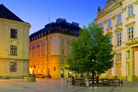 primates: Square at the Primates Palace in the old town of Bratislava, Slovakia. Editorial