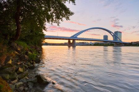 apollo: Apollo bridge over river Danube in Bratislava, Slovakia.
