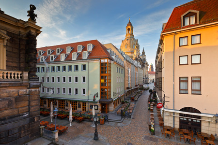 altstadt: One of the central streets in the old town of Dresden, Germany. Germany, Saxony, Dresden, Altstadt, old town, cityscape, city, town, architecture, historic, heritage, Editorial