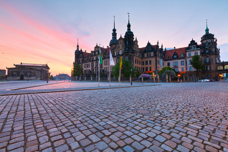 altstadt: View of the royal palace in the old town of Dresden, Germany. Editorial