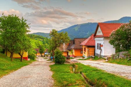 Vlkolinec village near town of Ruzomberok, Slovakia. Фото со стока