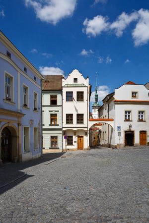 olomouc: Streets in the old town of Olomouc, Czech Republic. Stock Photo