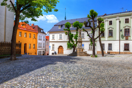 olomouc: Streets in the old town of Olomouc, Czech Republic. HDR image.