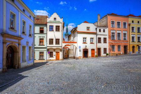 olomouc: Streets in the old town of Olomouc, Czech Republic. HDR image Stock Photo
