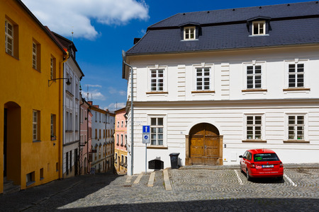 olomouc: Olomouc, Czech Republic - June 04, 2016: Streets in the old town of Olomouc, Czech Republic.