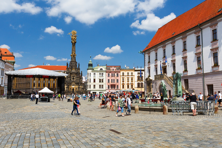 olomouc: Olomouc, Czech Republic - June 04, 2016: Event in the main square in the old town of Olomouc, Czech Republic. Editorial