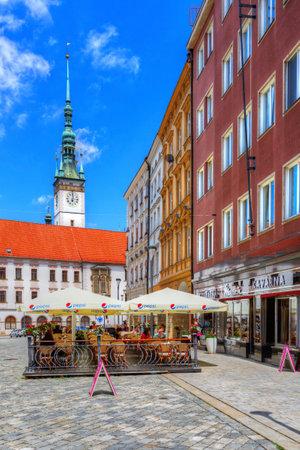 olomouc: Olomouc, Czech Republic - June 04, 2016: One of the main squares in the old town of Olomouc, Czech Republic. HDR image