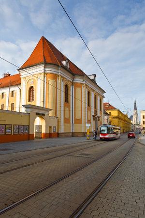 olomouc: Street in the old town of Olomouc, Czech Republic. Editorial