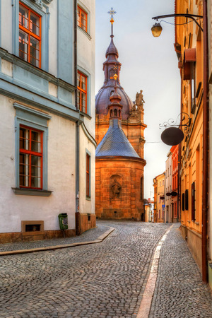 olomouc: Architecture in the old town of Olomouc, Czech Republic. HDR image.
