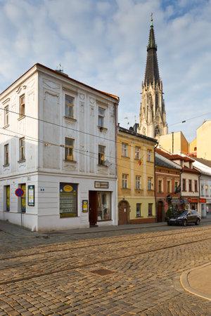 olomouc: Streets in the old town of Olomouc, Czech Republic. Editorial
