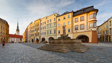 olomouc: One of the main squares in the old town of Olomouc, Czech Republic. Editorial