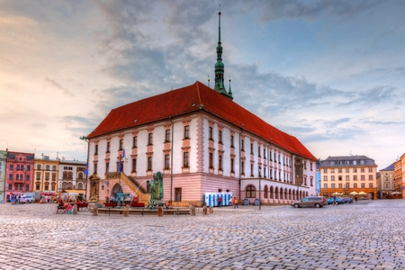 olomouc: Town hall in the main square of the old town of Olomouc, Czech Republic. HDR image