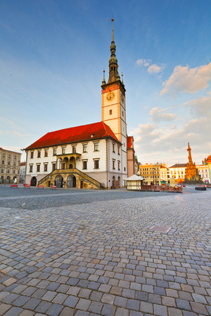 olomouc: Town hall in the main square of the old town of Olomouc, Czech Republic. Stock Photo