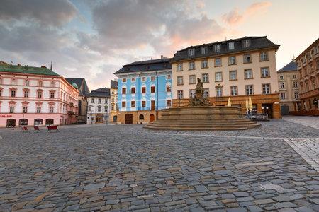 olomouc: Main square in the old town of Olomouc, Czech Republic. Editorial