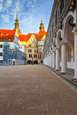 historic architecture: Historic architecture in the old town of Dresden, Germany.