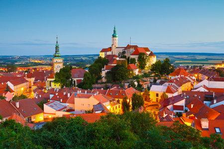 moravia: Town of Mikulov in Moravia, Czech Republic.