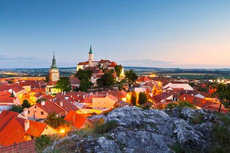Città di Mikulov in Moravia, Repubblica Ceca.