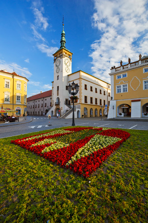 old town townhall: Town hall in the main square of Kromeriz city in Moravia, Czech Republic. Editorial