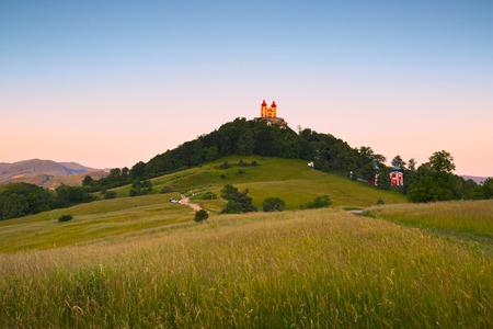 calvary: Calvary on a hill above the town of Banska Stiavnica in Slovakia.