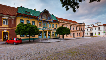 historic architecture: Historic architecture in the main square of Skalica.