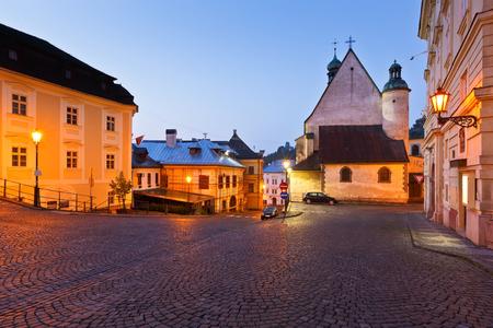 Church in the old town of Banska Stiavnica, Slovakia.