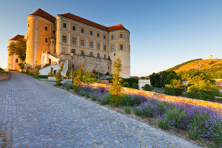 moravia: Palace in the historic town of Mikulov in Moravia, Czech Republic.
