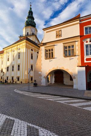 moravia: Bishops Palace in the main square of Kromeriz city in Moravia, Czech Republic.
