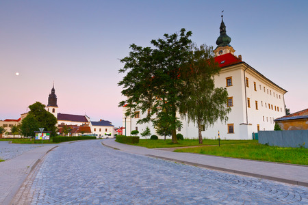 moravia: Palace and a church in Uhersky Ostroh, Moravia, Czech Republic. Editorial