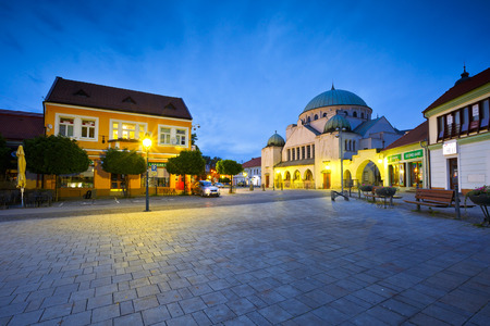 synagogue: Synagogue in the old town of Trencin, Slovakia. Editorial