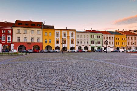 voicemail: Historic architecture in the main square of Kromeriz city in Moravia, Czech Republic. Editorial