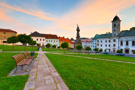 Historic medieval mining town of Kremnica in central Slovakia.