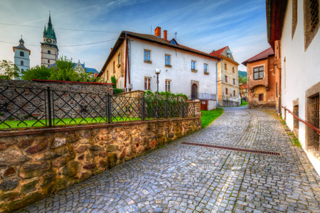 mining town: Historic medieval mining town of Kremnica in central Slovakia. HDR image.