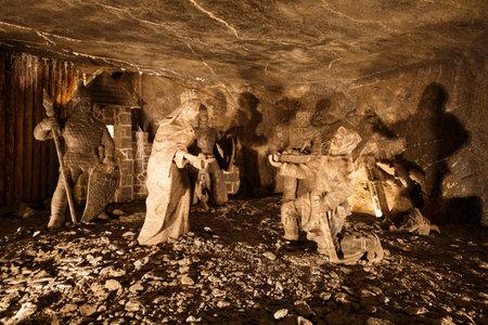 krakow: Wieliczka salt mine near Krakow in Poland.
