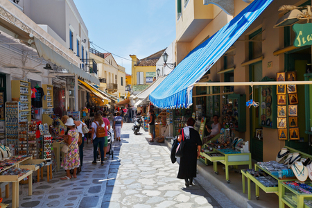 Shops in the centre of the old town of Tinos.