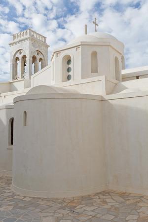 naxos: Catholic church in the medieval castle of Naxos. Stock Photo