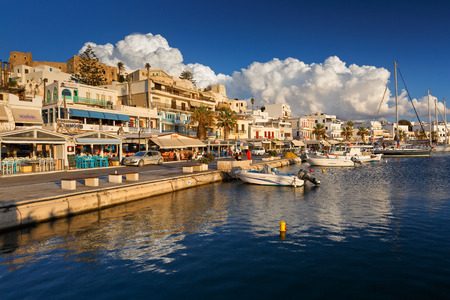 naxos: Restaurants and coffee shops at the seafront of Naxos town.