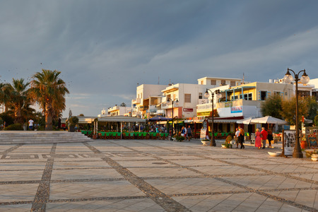 seafronts: Restaurants and coffee shops at the seafront of Naxos town.