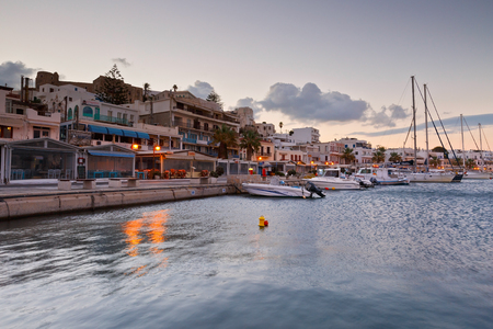 naxos: Seafront and the port of Naxos town. Editorial
