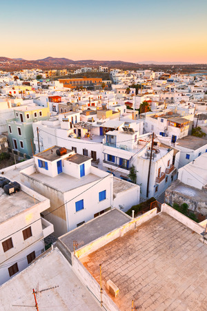 chora: View of the old town of Naxos from the catle.
